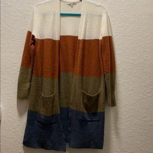 Made well Kent colorblock cardigan